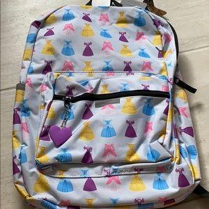 NWT Disney Princess Dress Backpack!